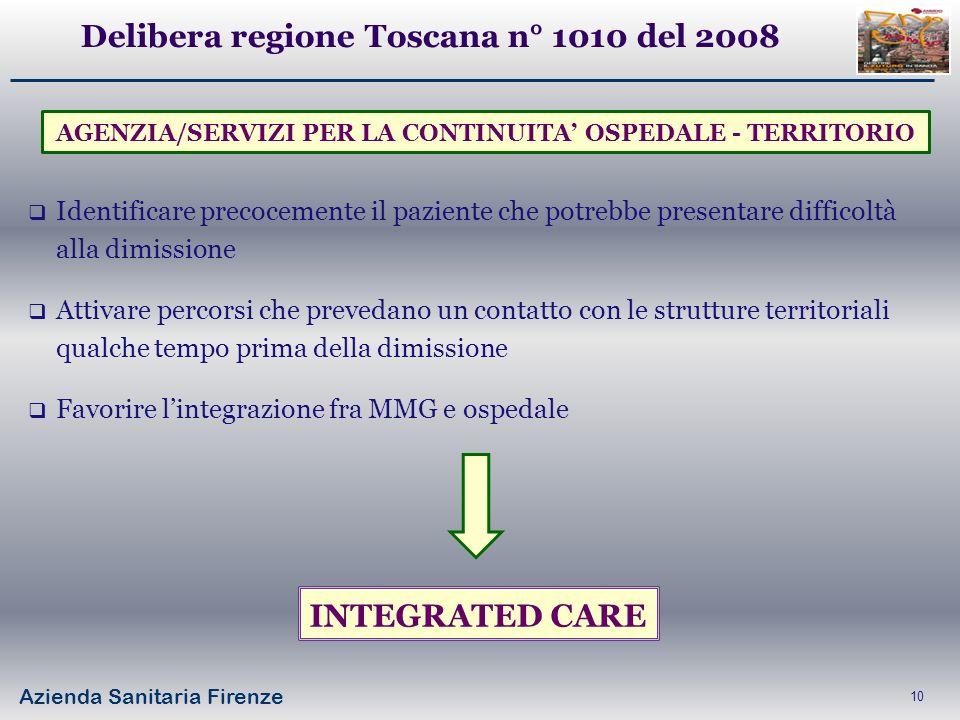 Delibera regione Toscana n° 1010 del 2008
