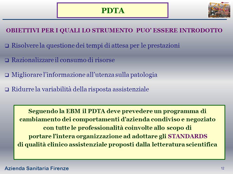 PDTA Risolvere la questione dei tempi di attesa per le prestazioni
