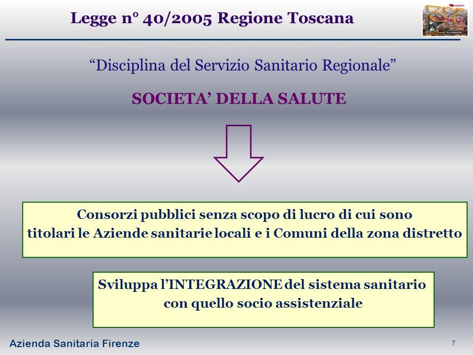 Legge n° 40/2005 Regione Toscana