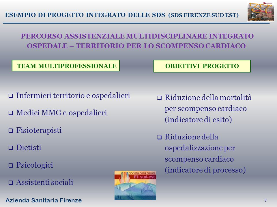 ESEMPIO DI PROGETTO INTEGRATO DELLE SDS (SDS FIRENZE SUD EST)