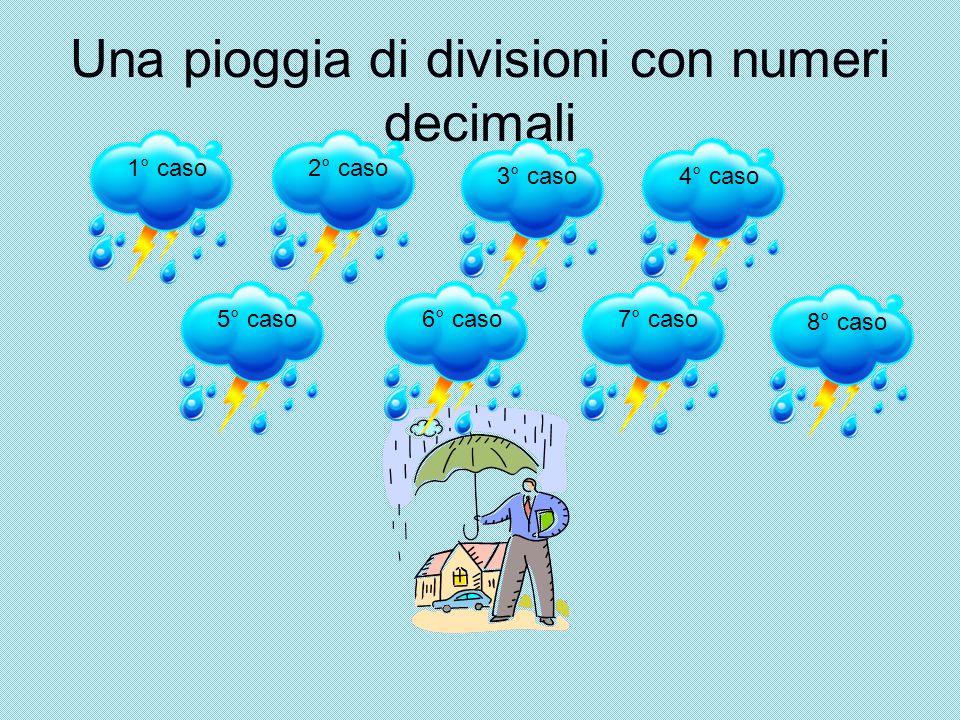 Una pioggia di divisioni con numeri decimali