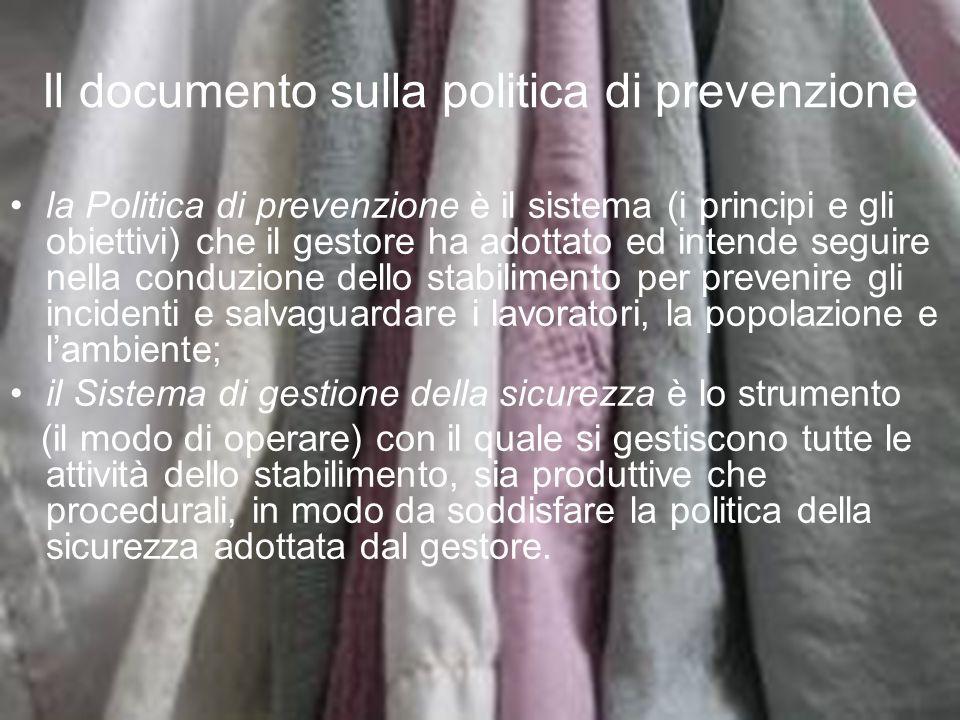 Il documento sulla politica di prevenzione