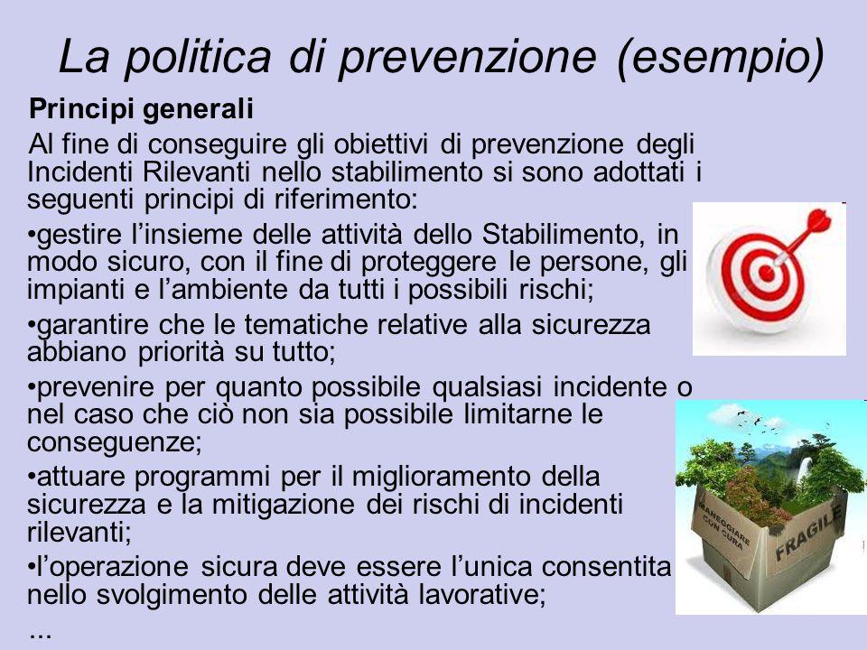 La politica di prevenzione (esempio)