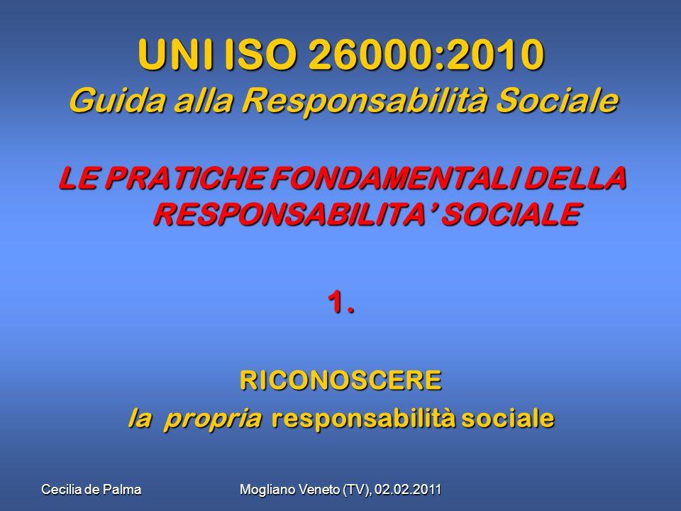 UNI ISO 26000:2010 Guida alla Responsabilità Sociale