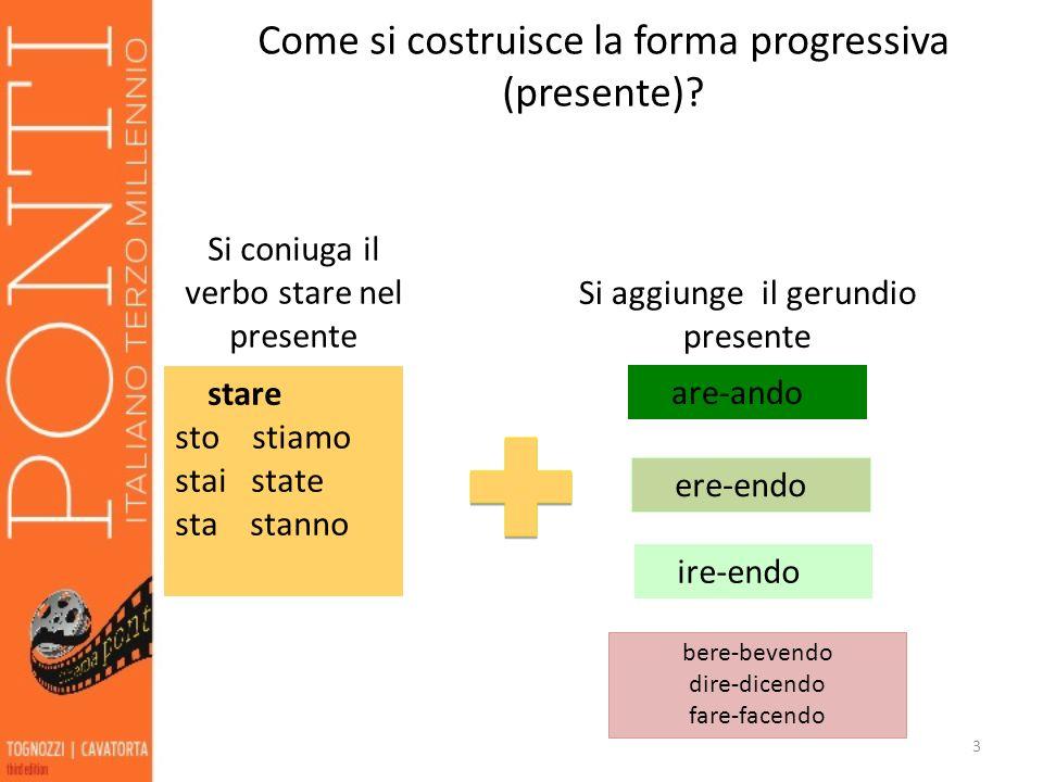 Come si costruisce la forma progressiva (presente)