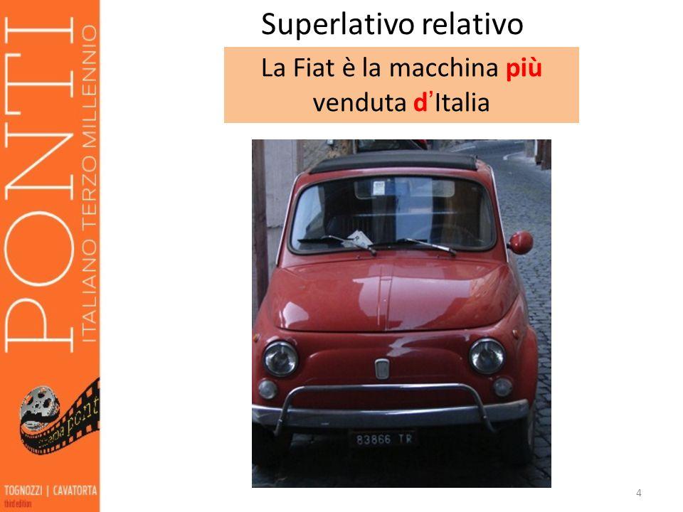 La Fiat è la macchina più venduta d'Italia