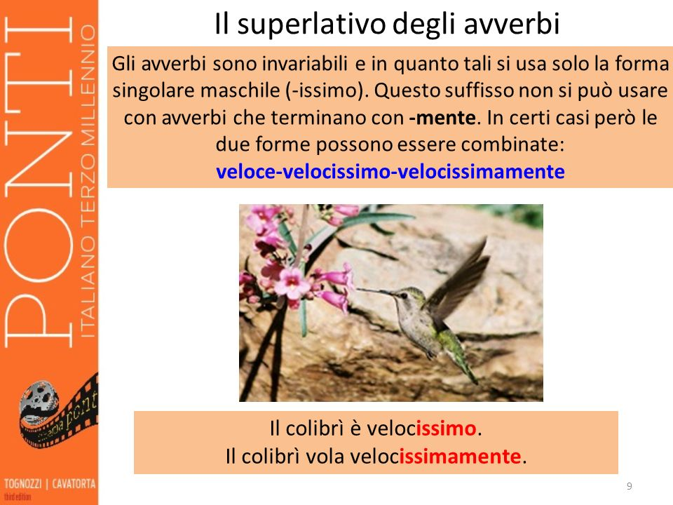 Il superlativo degli avverbi