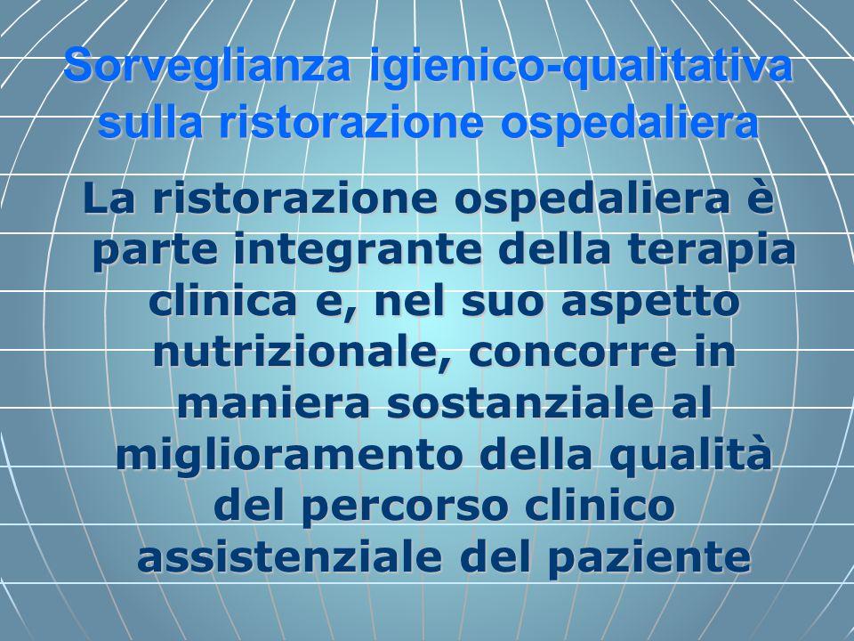 Sorveglianza igienico-qualitativa sulla ristorazione ospedaliera