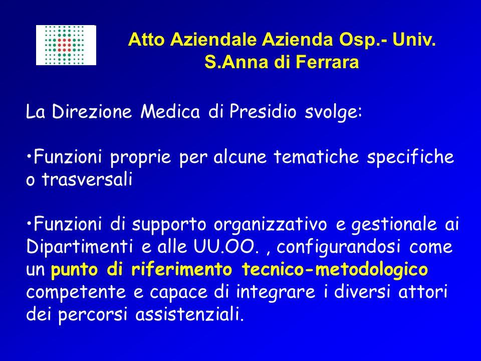 Atto Aziendale Azienda Osp.- Univ. S.Anna di Ferrara