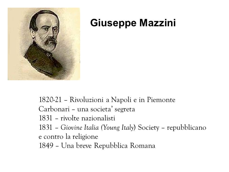 Giuseppe Mazzini 1820-21 – Rivoluzioni a Napoli e in Piemonte