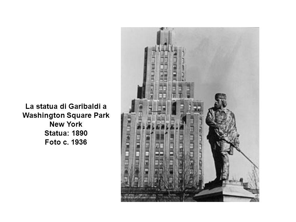 La statua di Garibaldi a