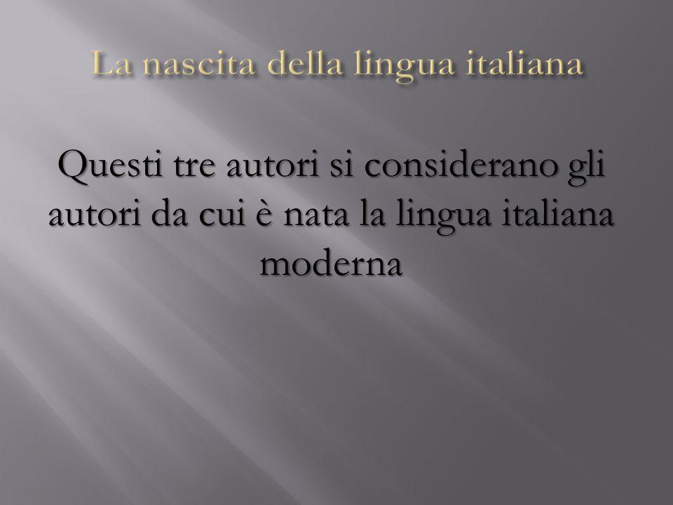 La nascita della lingua italiana