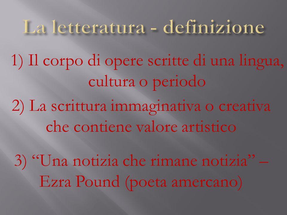 La letteratura - definizione