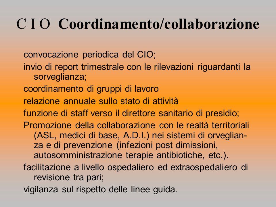 C I O Coordinamento/collaborazione