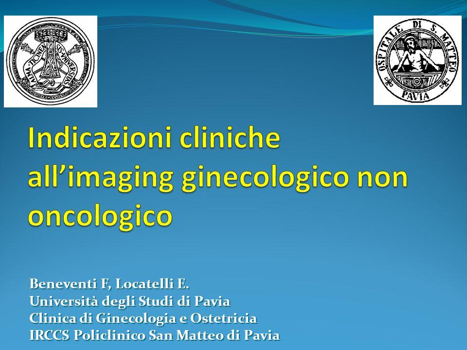 Indicazioni cliniche all'imaging ginecologico non oncologico