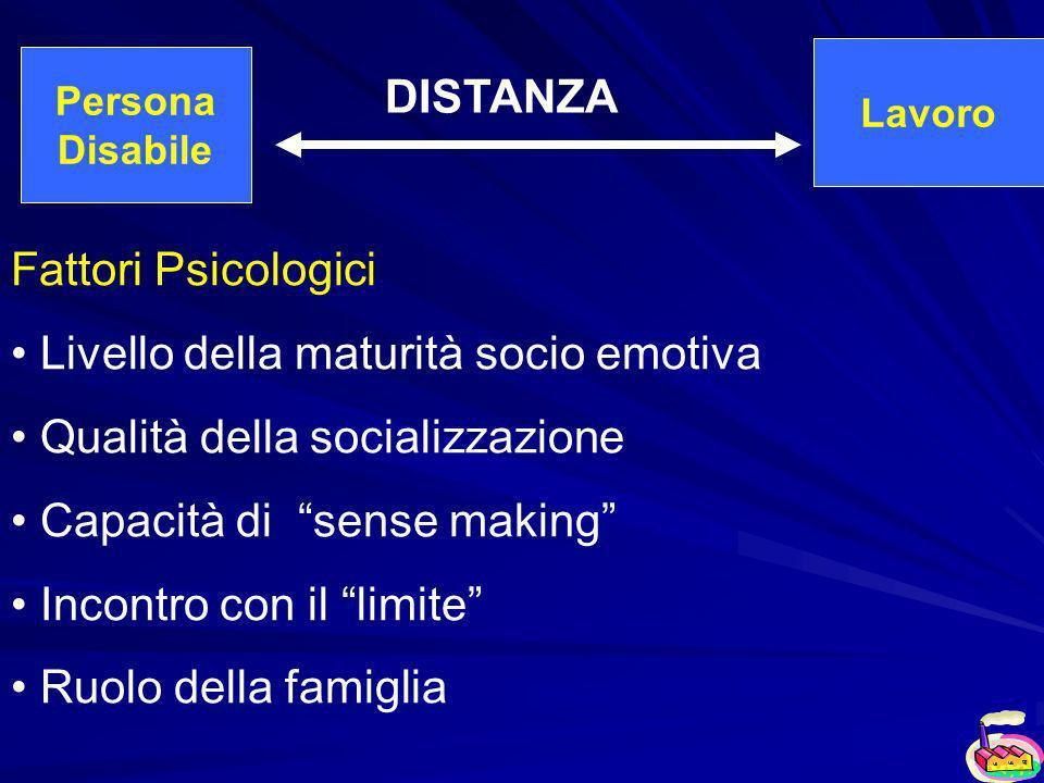 Livello della maturità socio emotiva Qualità della socializzazione