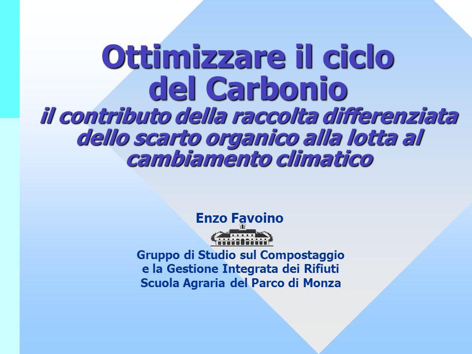 Ottimizzare il ciclo del Carbonio il contributo della raccolta differenziata dello scarto organico alla lotta al cambiamento climatico