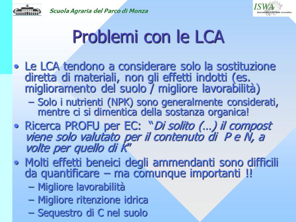 Problemi con le LCA