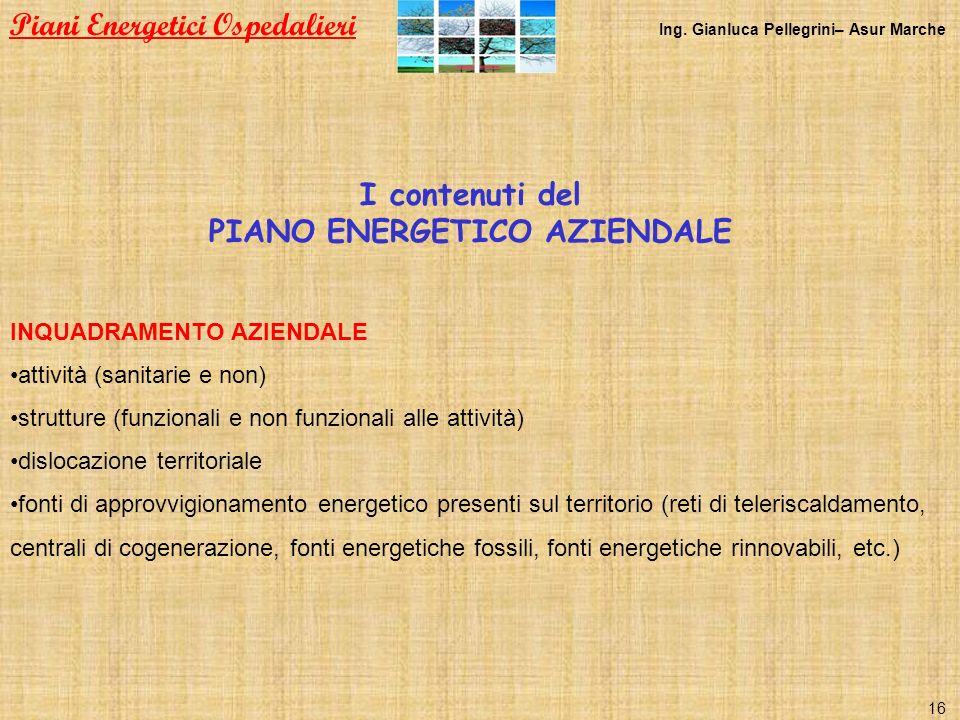PIANO ENERGETICO AZIENDALE