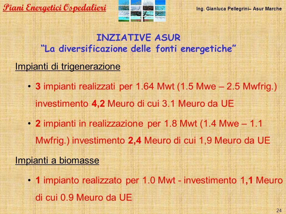 La diversificazione delle fonti energetiche