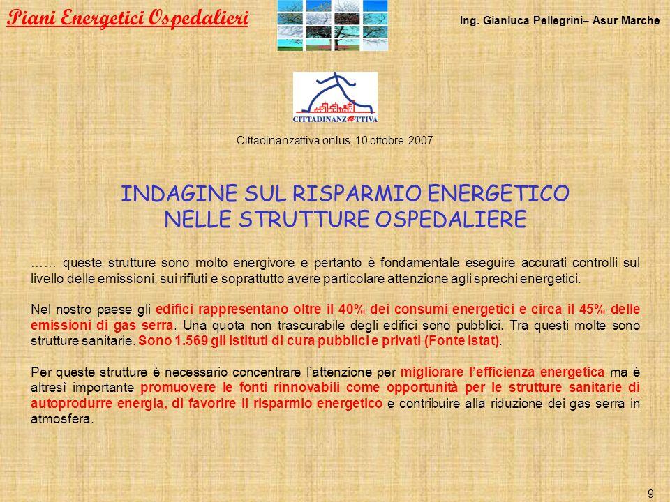 Piani Energetici Ospedalieri Ing. Gianluca Pellegrini– Asur Marche