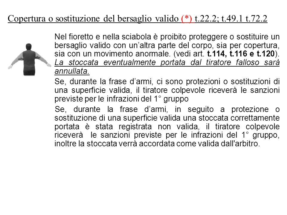 Copertura o sostituzione del bersaglio valido (*) t.22.2; t.49.1 t.72.2