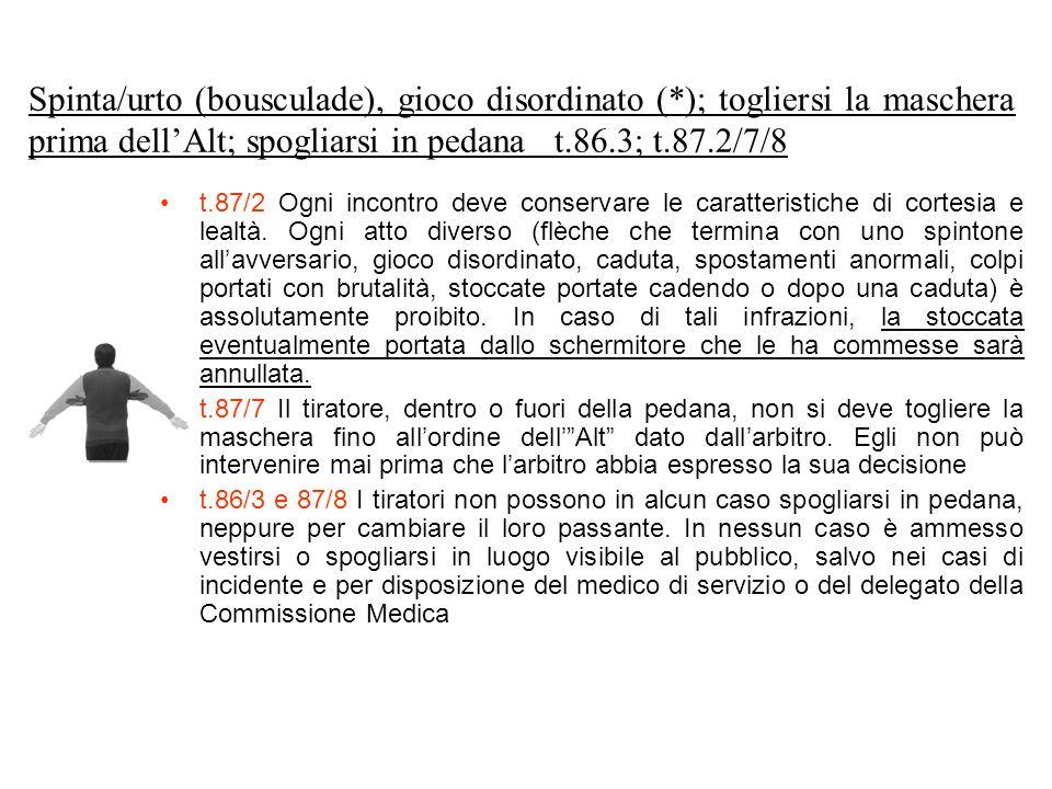 Spinta/urto (bousculade), gioco disordinato (