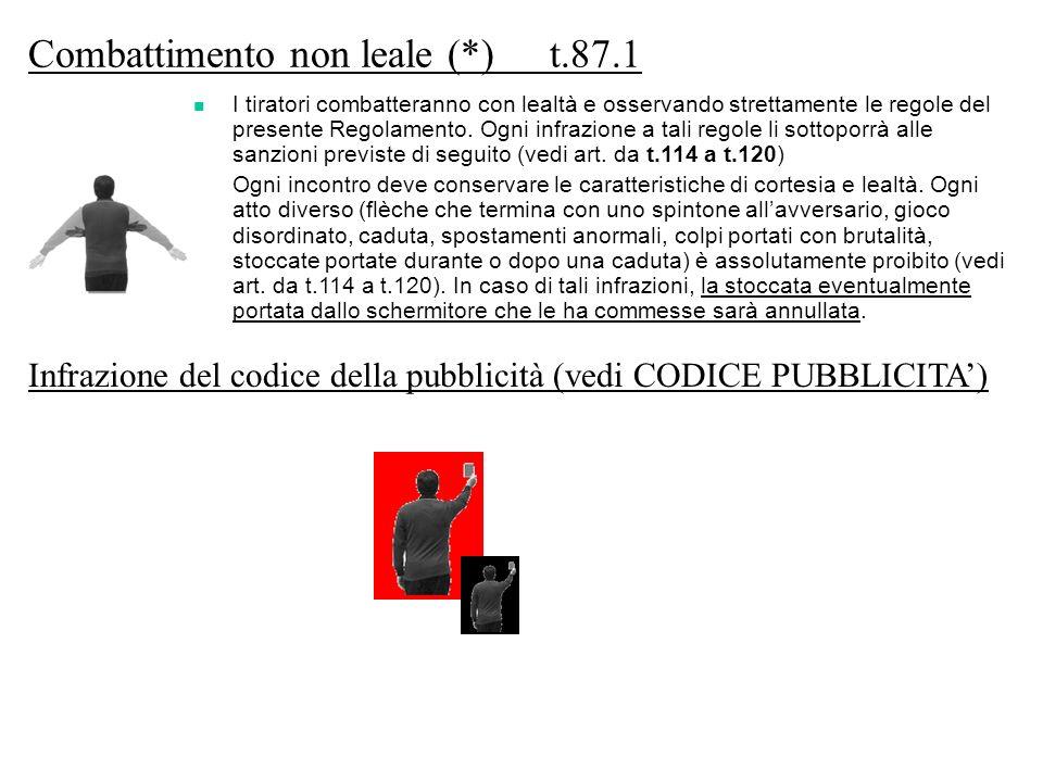 Combattimento non leale (*) t.87.1
