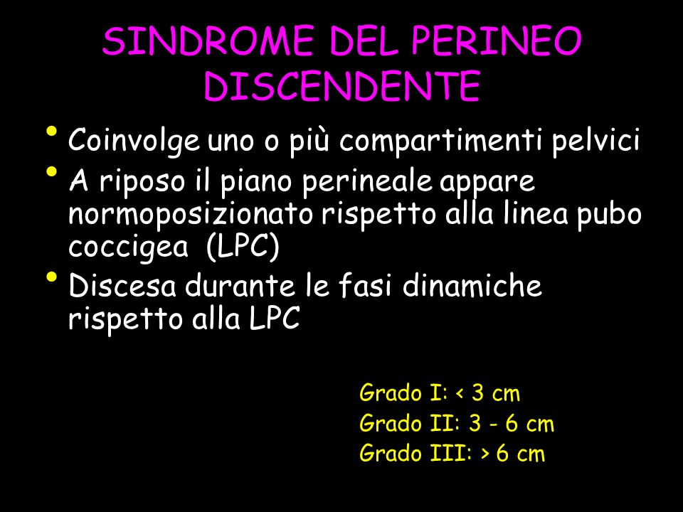 SINDROME DEL PERINEO DISCENDENTE