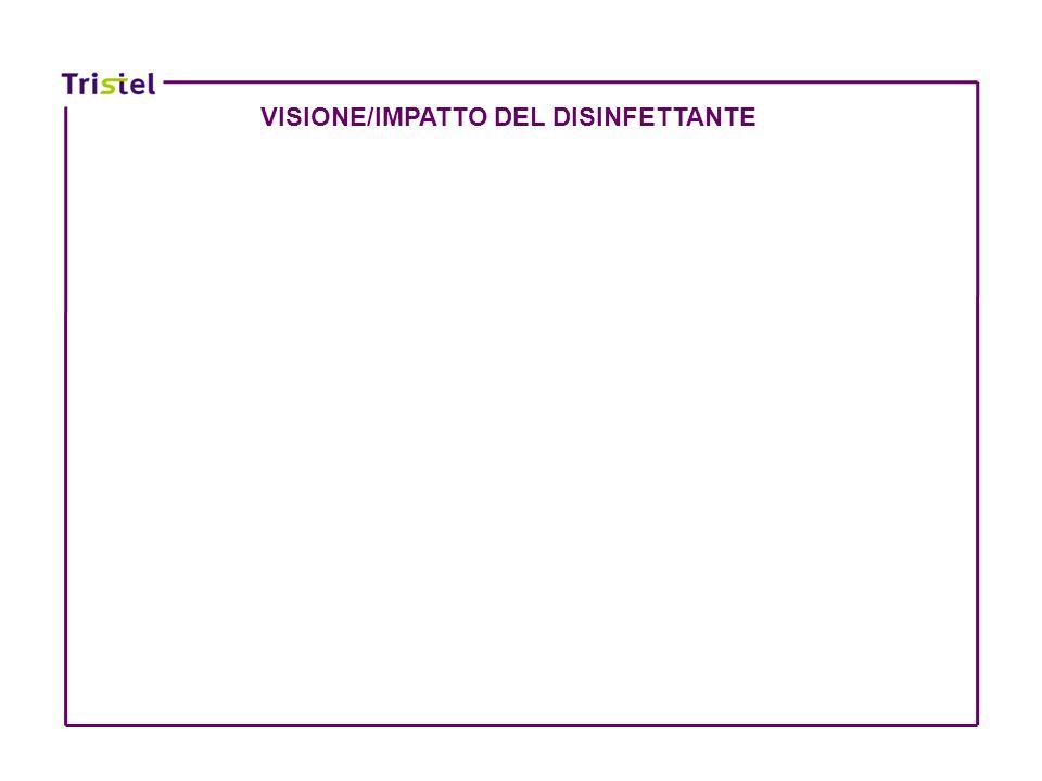 VISIONE/IMPATTO DEL DISINFETTANTE