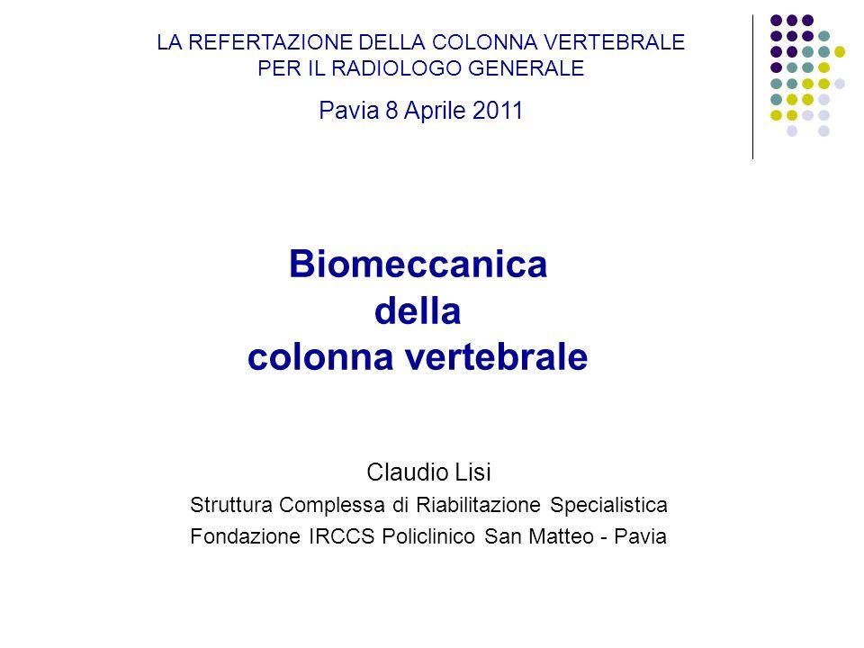 Biomeccanica della colonna vertebrale