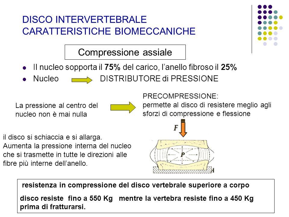 DISCO INTERVERTEBRALE CARATTERISTICHE BIOMECCANICHE