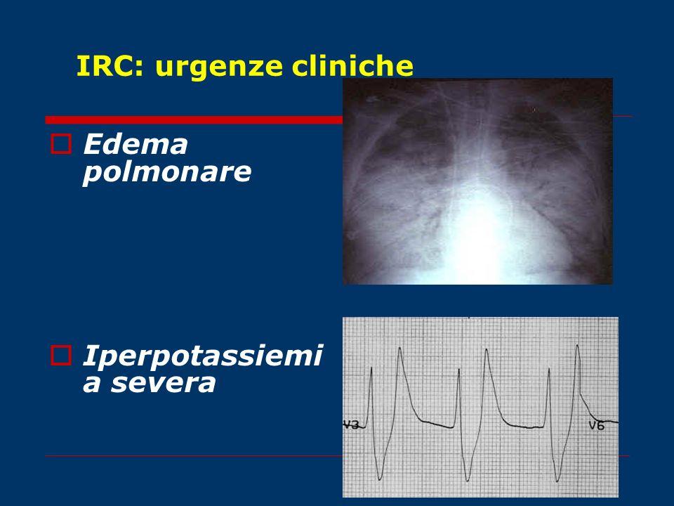 IRC: urgenze cliniche Edema polmonare Iperpotassiemia severa