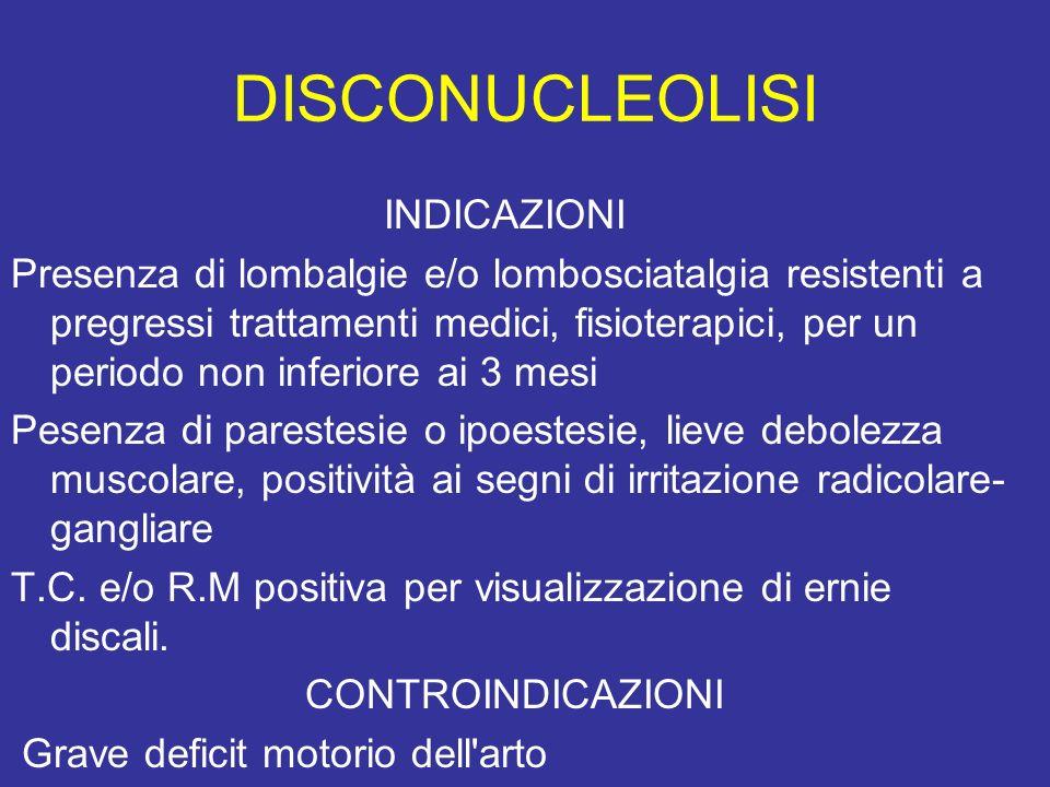 DISCONUCLEOLISI INDICAZIONI