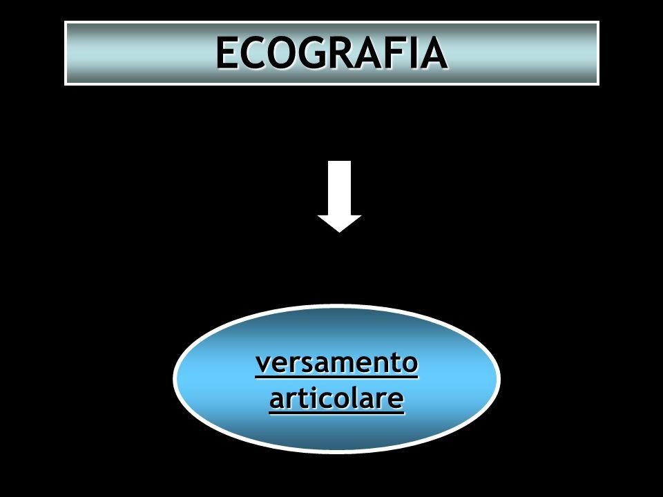 ECOGRAFIA versamento articolare