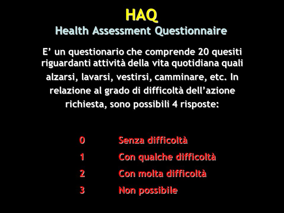 HAQ Health Assessment Questionnaire