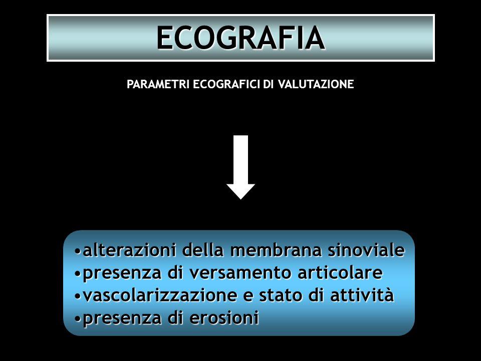 PARAMETRI ECOGRAFICI DI VALUTAZIONE