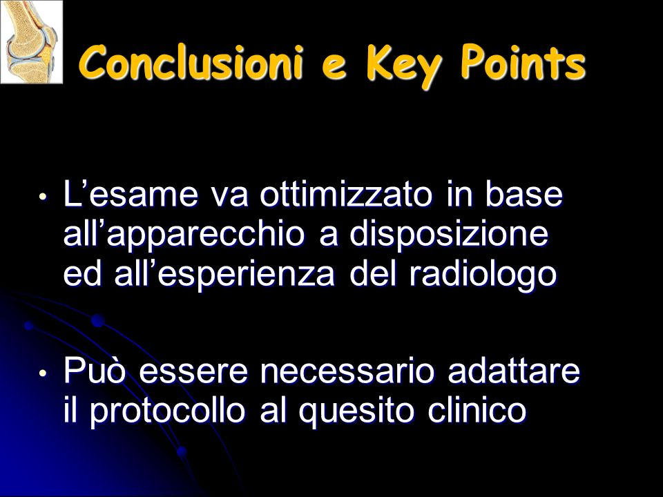 Conclusioni e Key Points