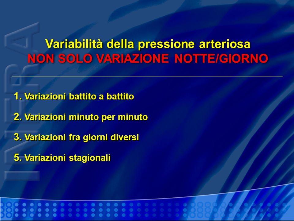 Variabilità della pressione arteriosa NON SOLO VARIAZIONE NOTTE/GIORNO