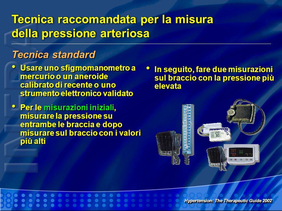 Tecnica raccomandata per la misura della pressione arteriosa