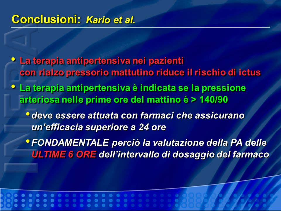 Conclusioni: Kario et al.