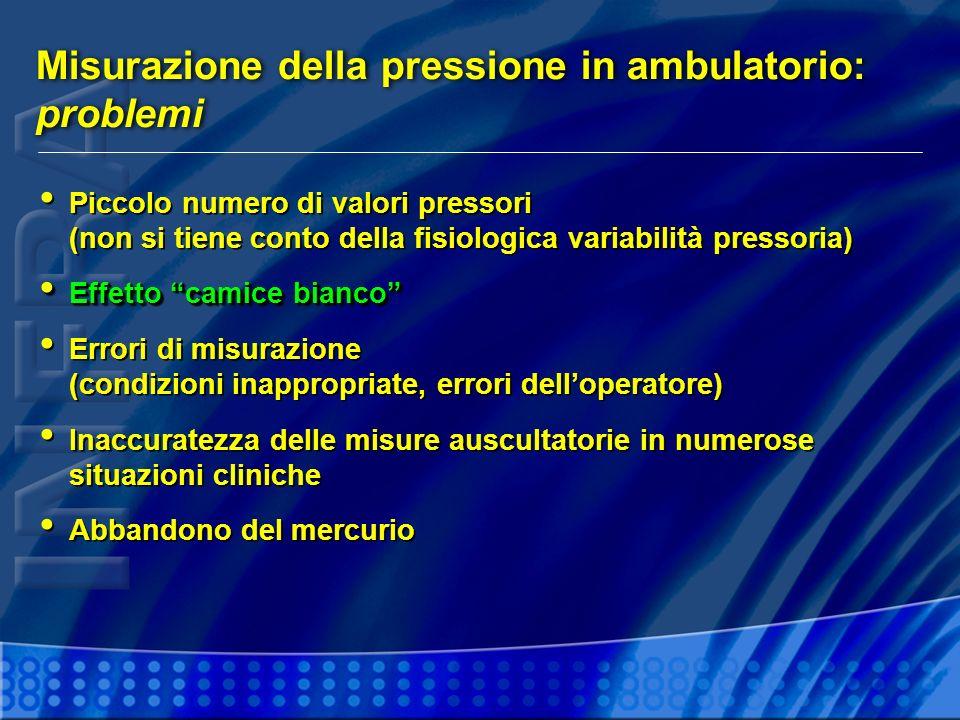 Misurazione della pressione in ambulatorio: problemi