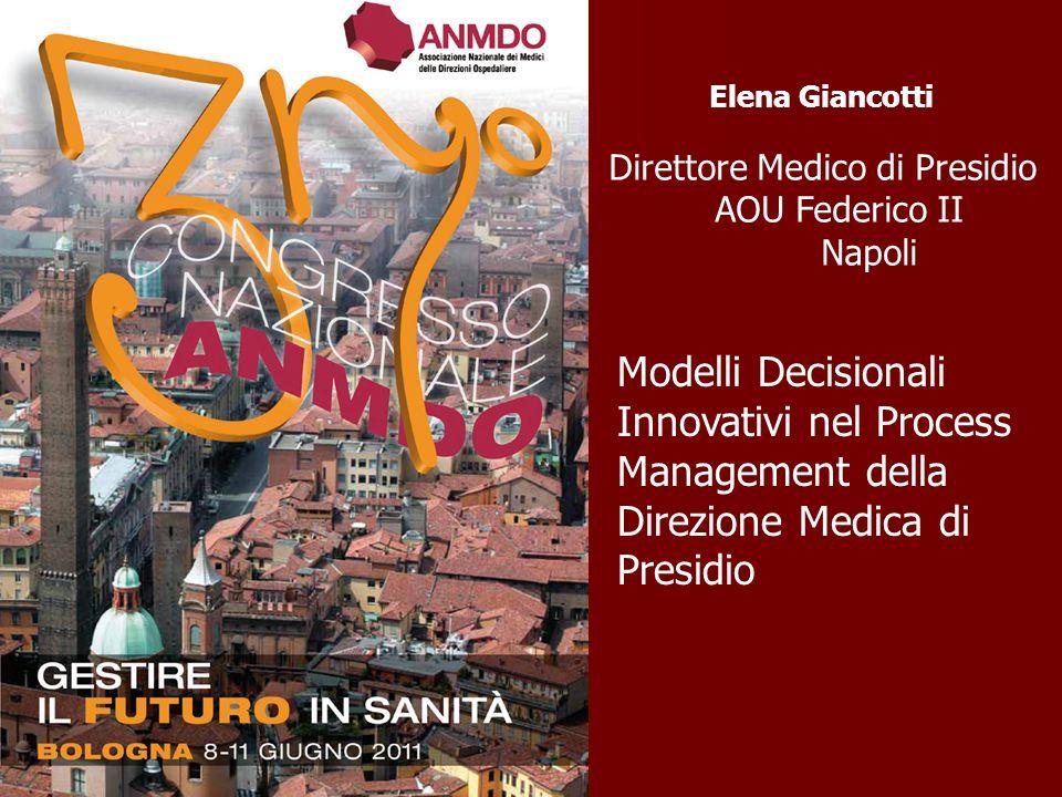 Elena Giancotti Direttore Medico di Presidio AOU Federico II Napoli.