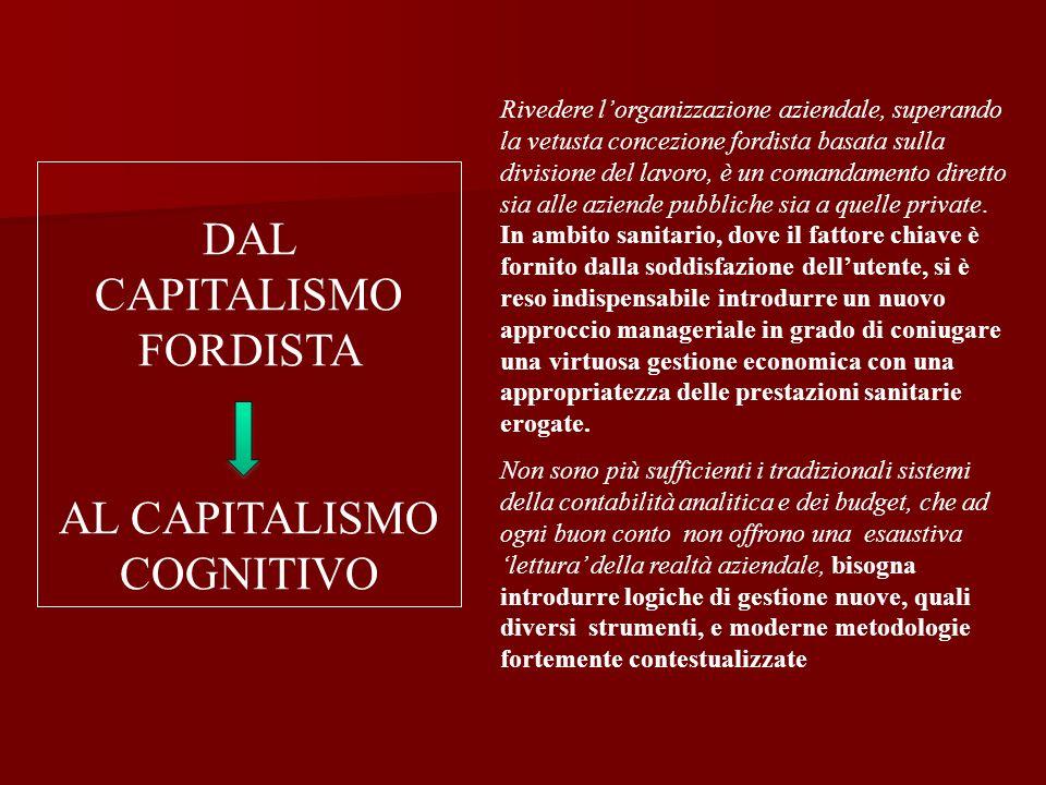 DAL CAPITALISMO FORDISTA