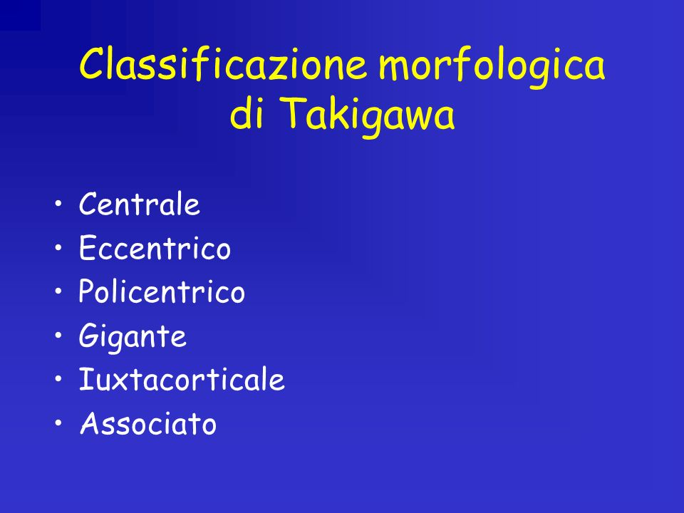 Classificazione morfologica di Takigawa