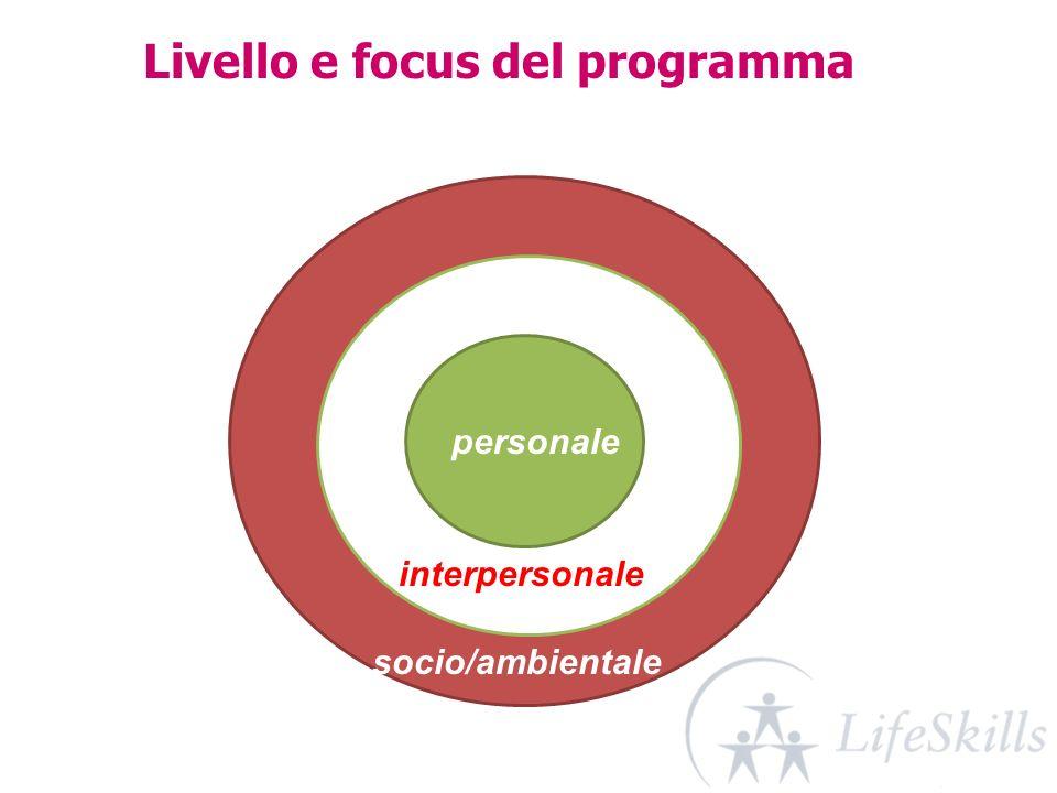Livello e focus del programma