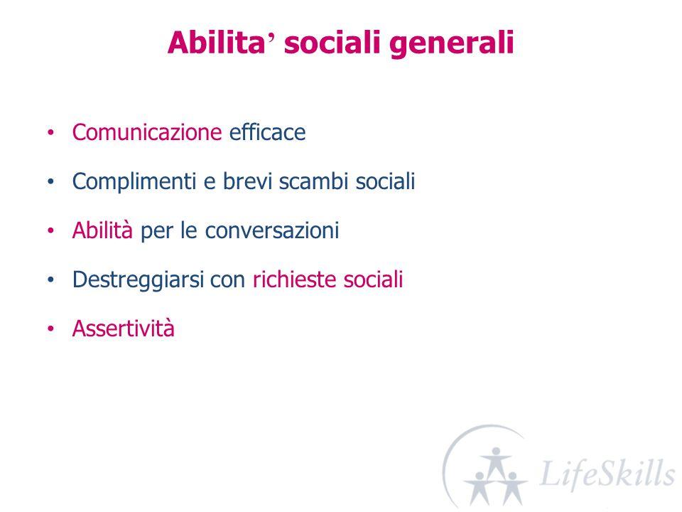 Abilita' sociali generali
