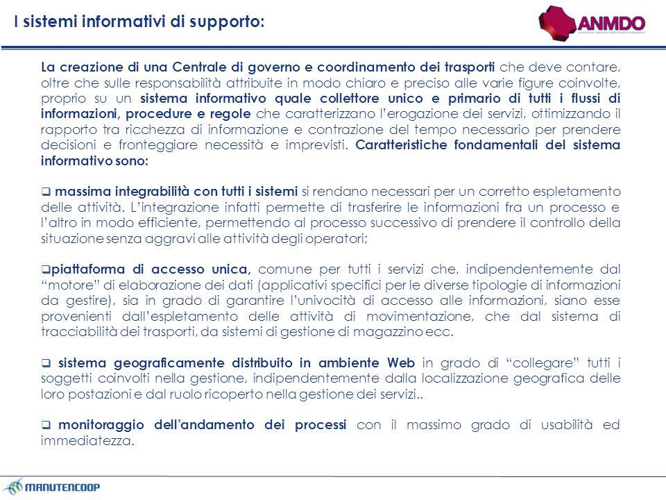 I sistemi informativi di supporto: