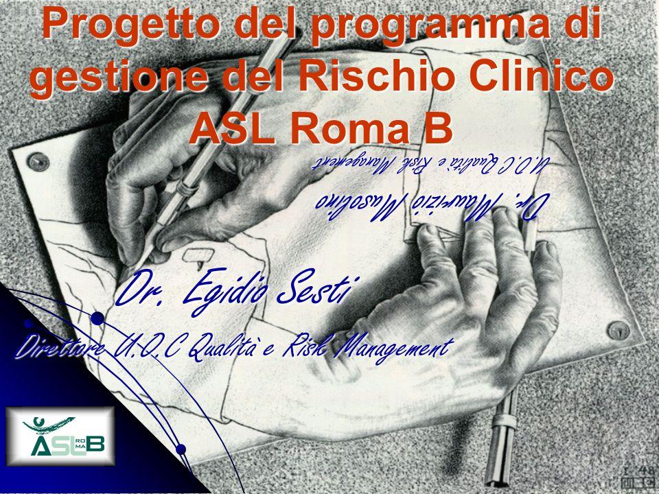 Progetto del programma di gestione del Rischio Clinico ASL Roma B