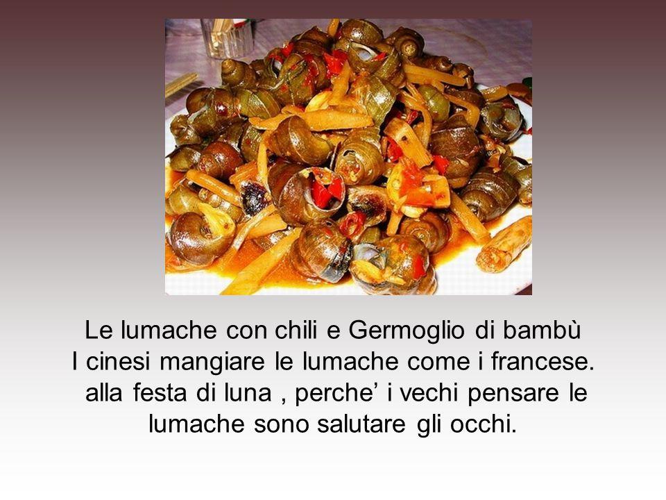 Le lumache con chili e Germoglio di bambù I cinesi mangiare le lumache come i francese.
